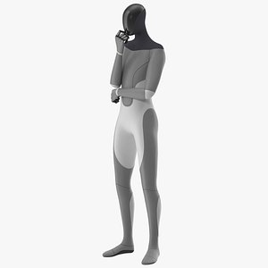 Robotic Humanoid Standing Pose 3D model