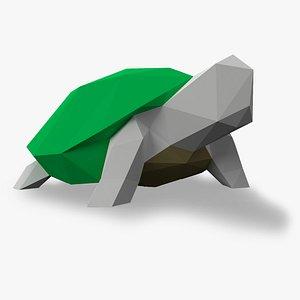 3D turtle 3D Papercraf model