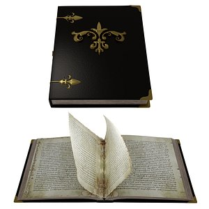 3D book pages