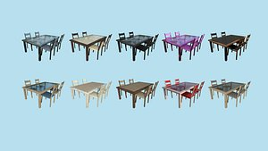 3D 10 Dinning Table C Collection Furniture Interior Design