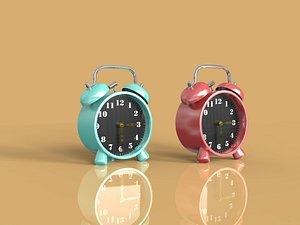 Alarm clock alarm clock alarm clock bedside clock luminous watch clock cute alarm clock student alar 3D