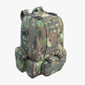 3D Military Backpack Green model