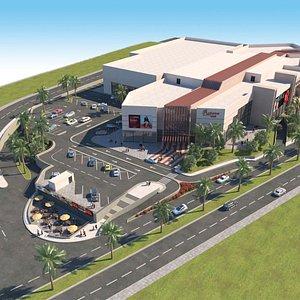 Mall Exterior 3D model