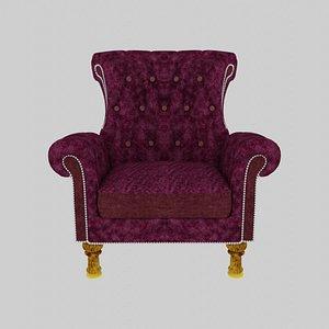 3D model Overstuffed Chair