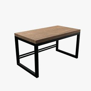 modern writing desk 3D model