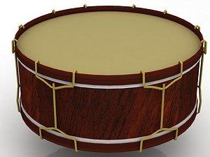 Drum Tambor Percussion Musical Instrument 3D model