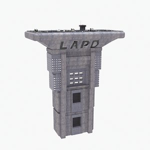 LAPD Bladerunner Building Cyberpunk model
