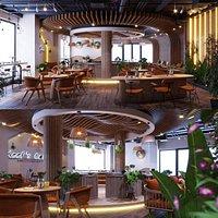 3D model Coffee Restaurant