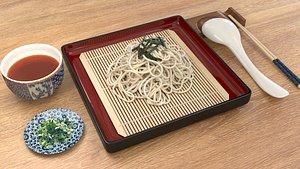 3D zaru soba cold soba noodles