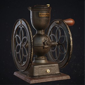 Antique coffee grinder 3D model