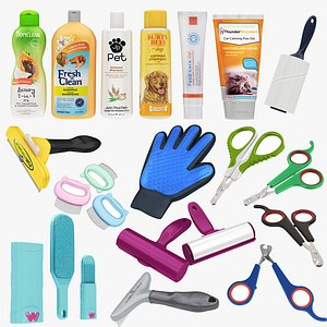 3D Big Pet Cleaning and Care Collection