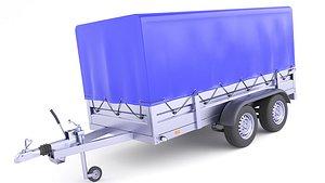 Cargo Trailer Utility 28 3D model