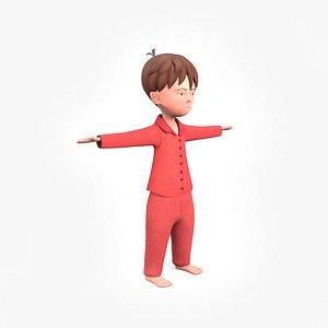 3D little child model