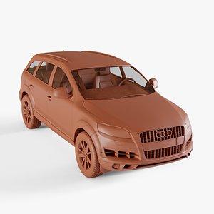 3D audi q7 2010 model