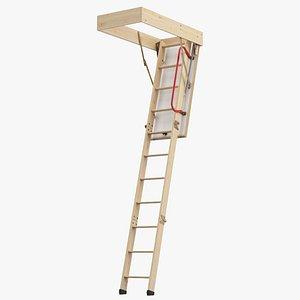 Attic Ladder 3D model