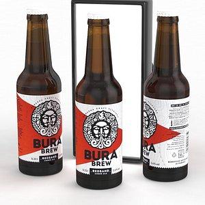 Beer Bottle Bura Brew Redsand Amber Ale 330ml 2021 model