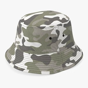 3D bucket hat camouflage