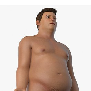 3D Obese Male Body