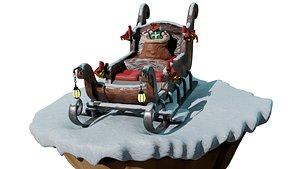 Santa s sleigh model
