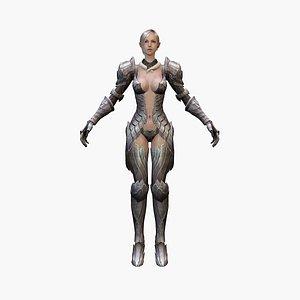3D warrior elf model
