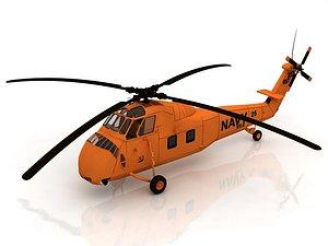 Sikorsky H-34 US Coast Guard 3D model