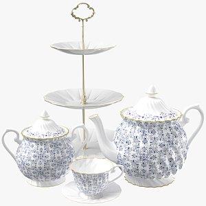 3D model Tea Set 01