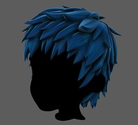 3D Hair style for boy V74