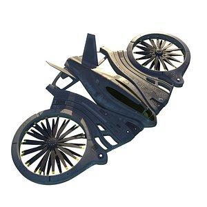 3D Futuristic dropship copter model