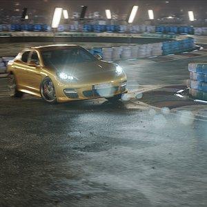 night drifting race car 3D model
