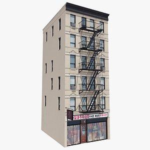 3D Manhattan Building 04, 8K PBR Textures