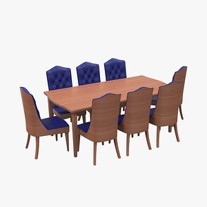 3D model Dining room table