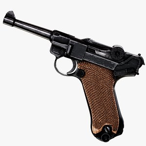 3D Luger P08 Parabellum Pistol