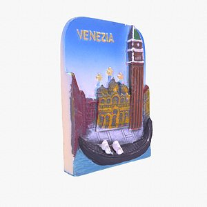 Venezia 02 Venice Italy magnet souvenir fridge 3D model