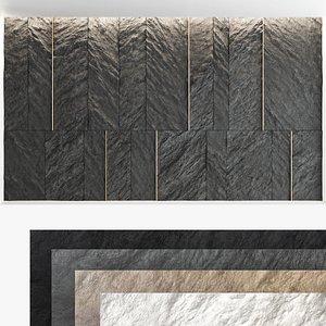 Decorative wall panel set 58 3D model