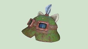 Teemo Helmet 06 Destroyed - Character Fashion Design 3D