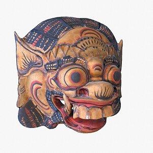 3D African Mask 04 low poly 3D model model