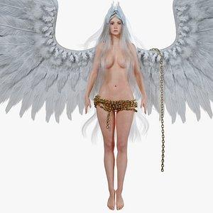 evora fantasy woman hair 3D model