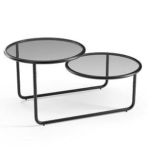 Selene 2-Tier Coffee Table 3D model