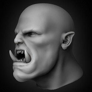 orc head concept 3D