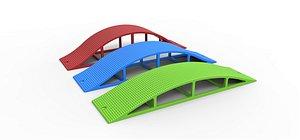 bridge cross axle 3D