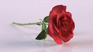 petal red roses plant 3D model