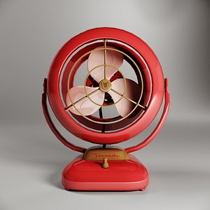 retro fan vornado 3D model