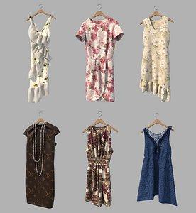 3D model hanger dress