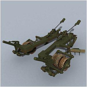 3D model KMT-7 tank mine roller