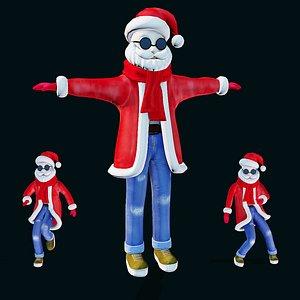 santa santaclaus character 3D