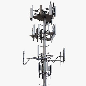 3D Telecommunication Cell Tower PBR model