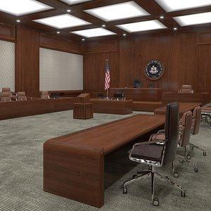 Courtroom 3D model