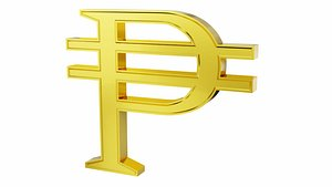 Peso currency sign model