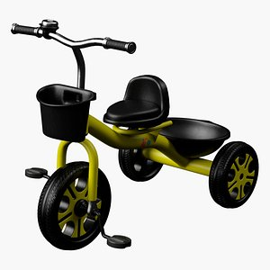 children s tricycle 3D