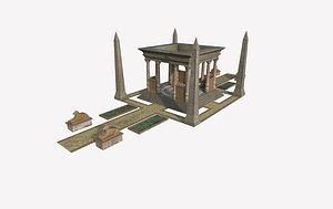 3D egypt temple model